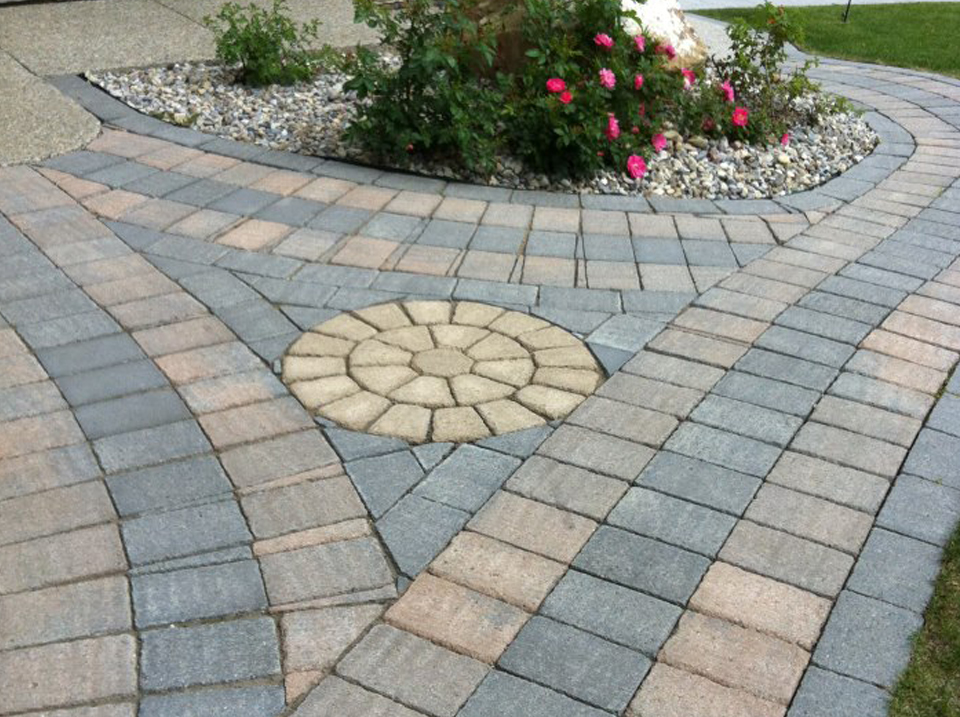 CityScape Landscaping Calgary - Custom cut Pattern stone landscaping