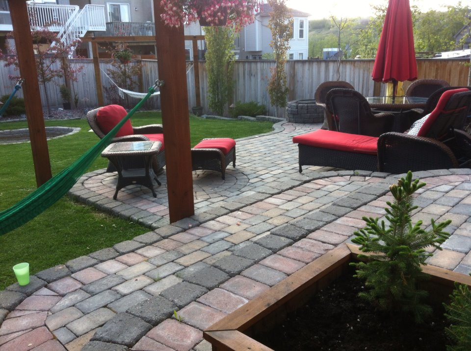 CityScape Landscaping Calgary - Brick patio design landscaping