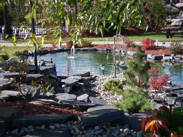 CityScape Landscaping Calgary - Waterfall landscaping and Pond Landscaping